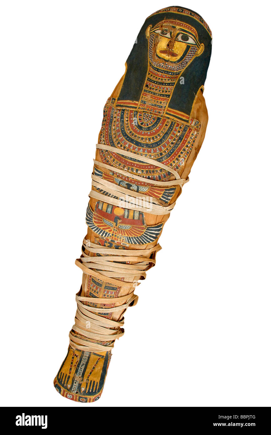 MUMMY OF A CHILD FROM THE PTOLEMAIC ERA, FINE ARTS AND NATURAL HISTORY MUSEUM OF CHATEAUDUN, EURE-ET-LOIR (28), - Stock Image