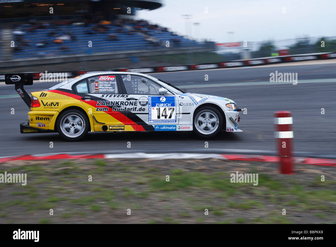 24-hour race at the Nurburgring race track, the BMW of the Team AC Bergisch Land eV in AvD with Ullrich, Jan D  - Stock Image