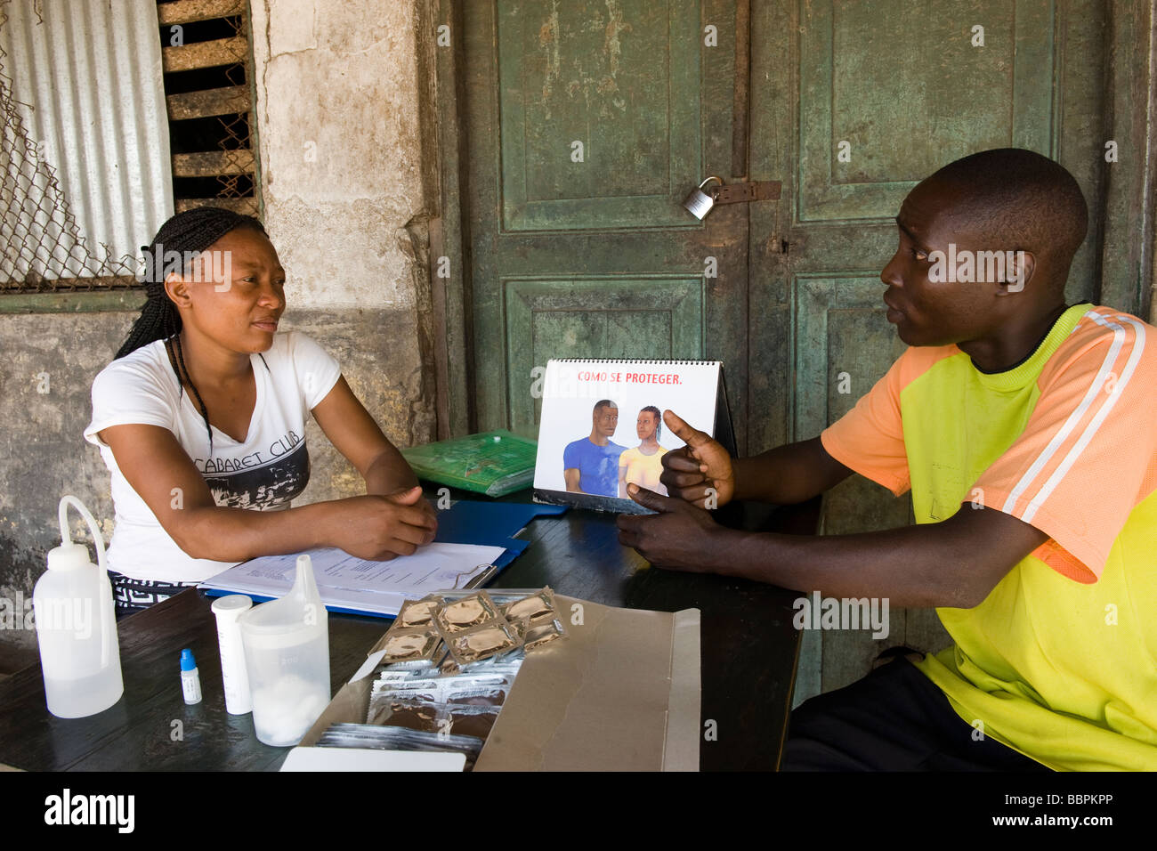 HIV AIDS counseling Quelimane Mozambique - Stock Image