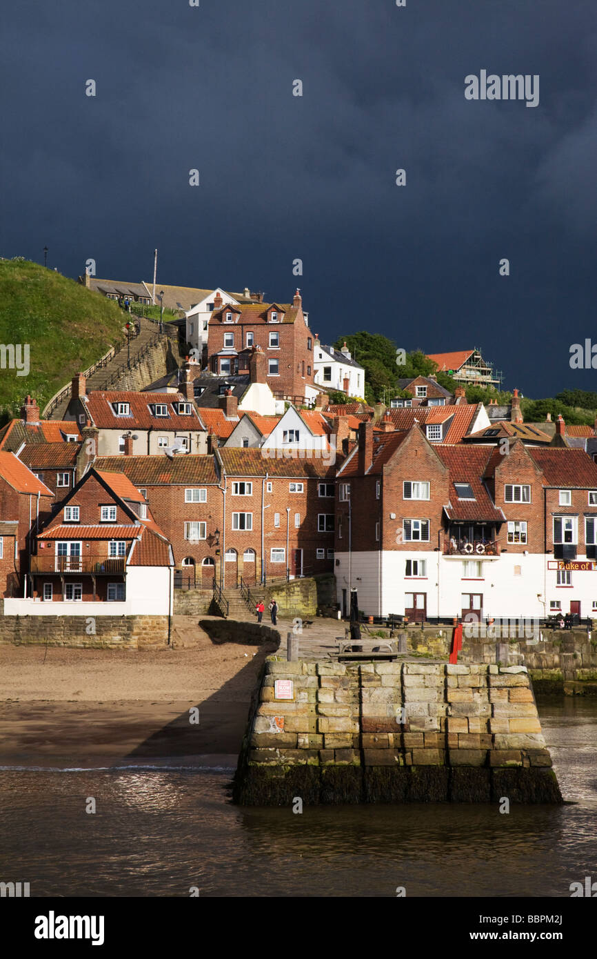 Whitby after a storm in North Yorkshire, England, UK. - Stock Image