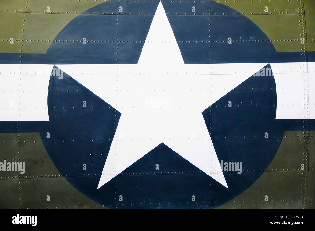 American plane at the Imperial War Museum, Duxford, UK - Stock Image