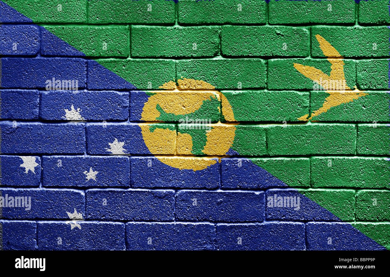 Flag of Christmas Island - Stock Image