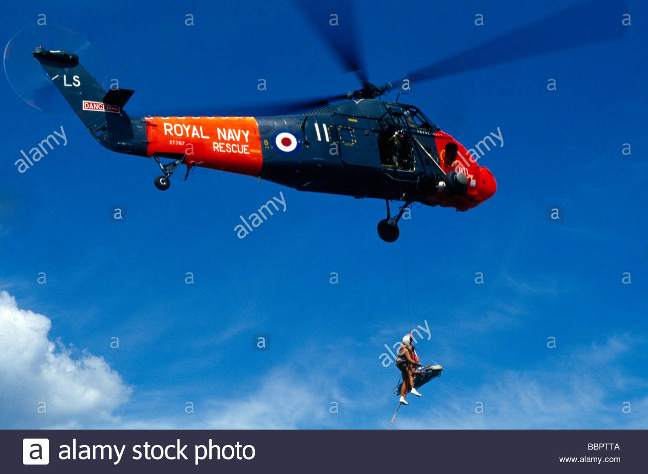 Air Sea Resuce From Sand Serin English Channel - Stock Image