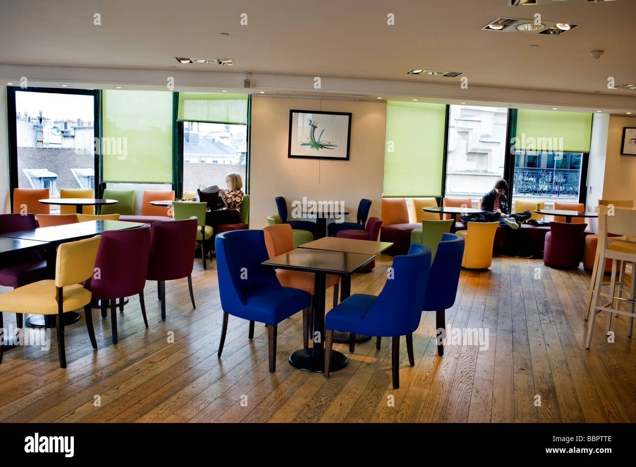 Paris France Empty French Cafe Bistro Restaurant Lina S Dining Room Stock Photo Alamy