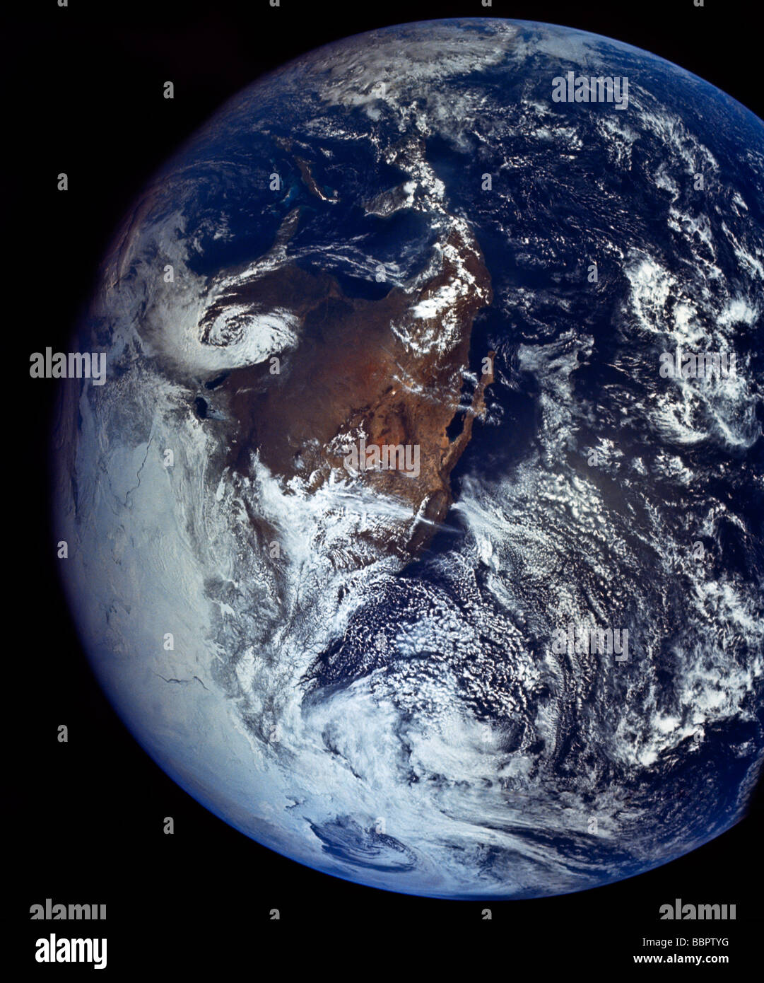 Earth From Space Showing Two Hurricanes