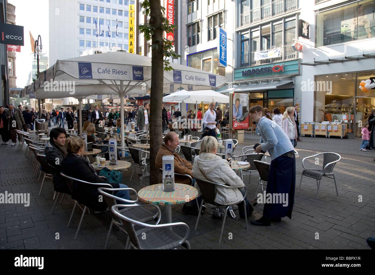 cafe street scene cologne germany