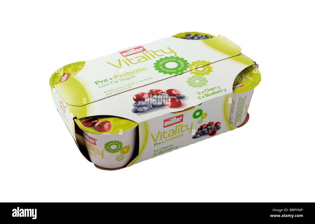 Multi pack yogurt Vitality probiotic yogurt made by Muller Stock