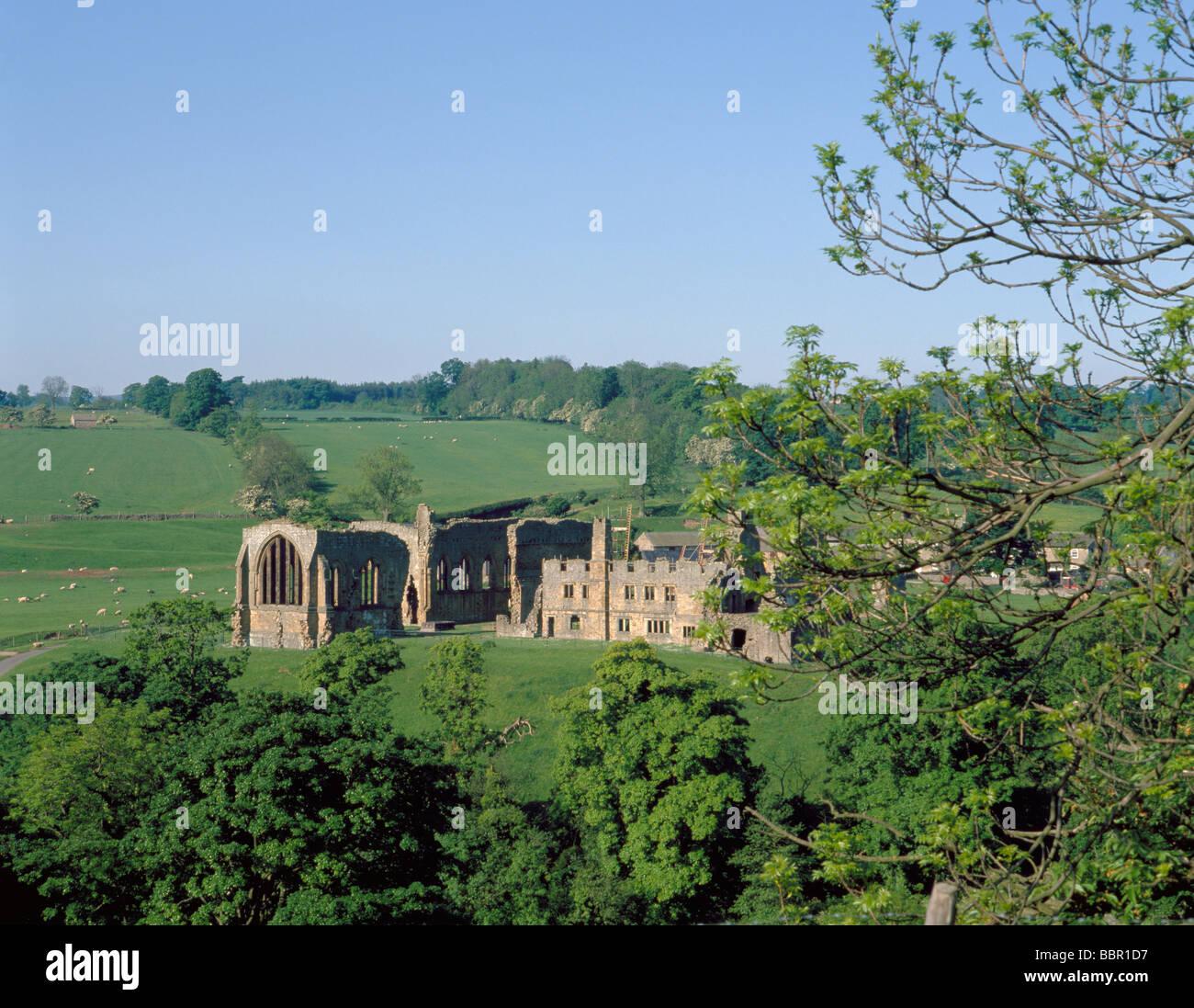 Ruins of Egglestone Abbey, near Barnard Castle, County Durham, England, UK. - Stock Image