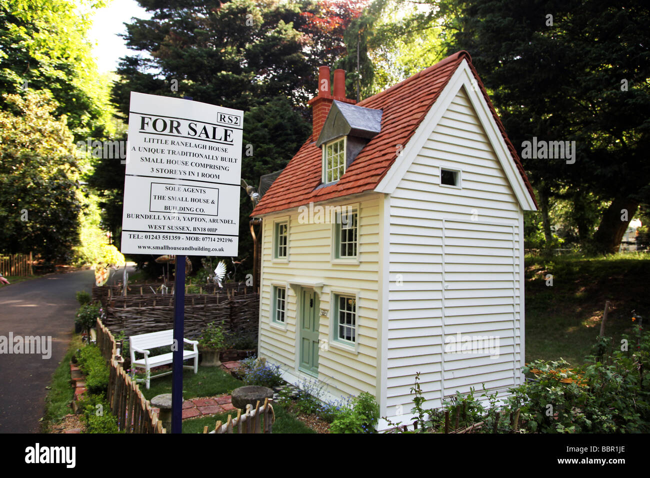 miniature house for sale Chelsea Flower Show 2009 - Stock Image