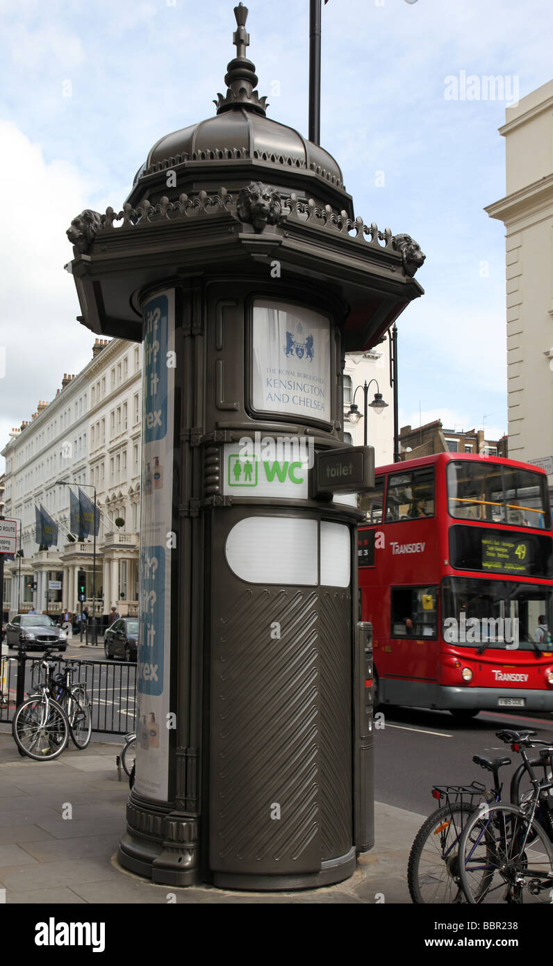 Public toilet Gloucester Road Royal Borough of Kensington Chelsea London - Stock Image