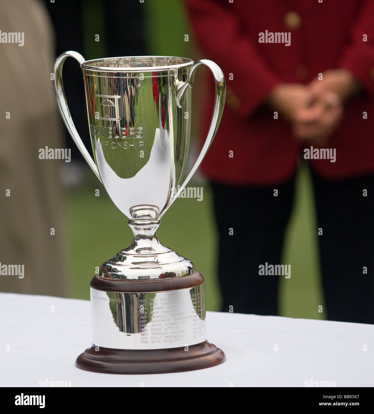 A PGA golf tournament winner's cup at the Travelers Championship, Cromwell CT USA 2009 - Stock Image