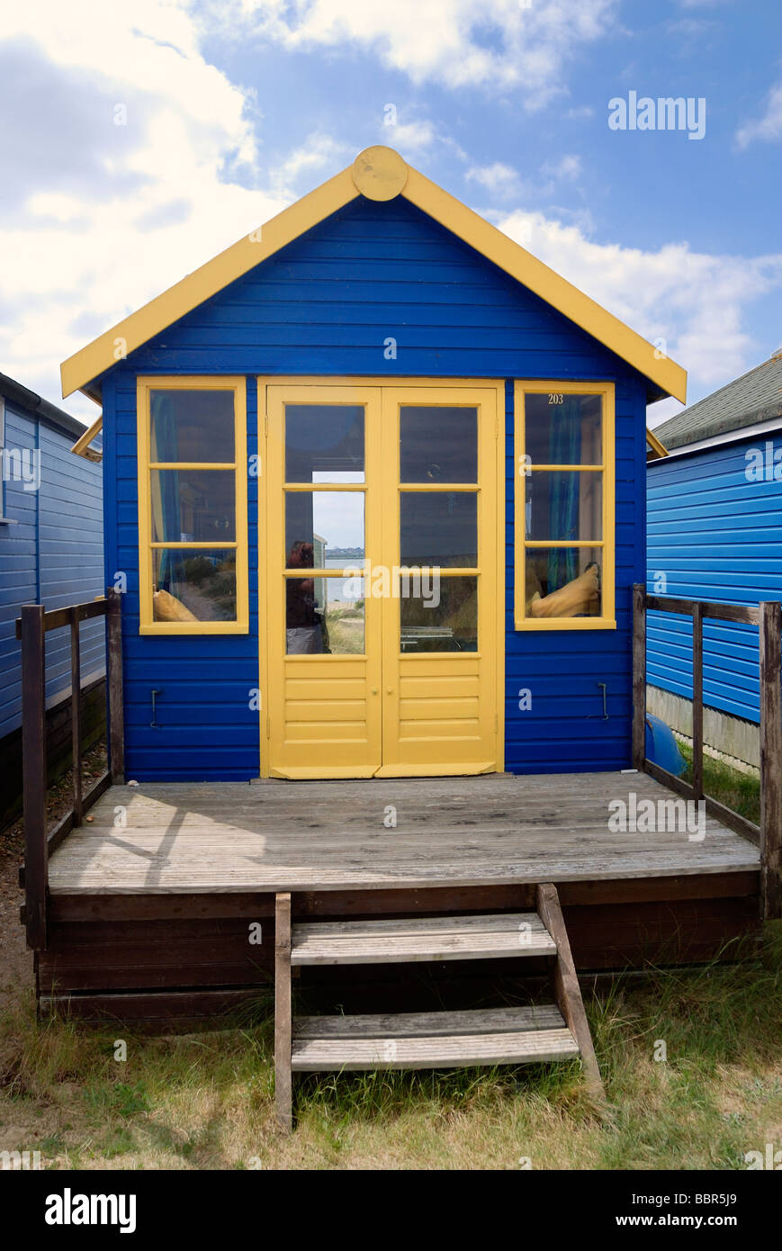 Large deluxe beach hut - Stock Image