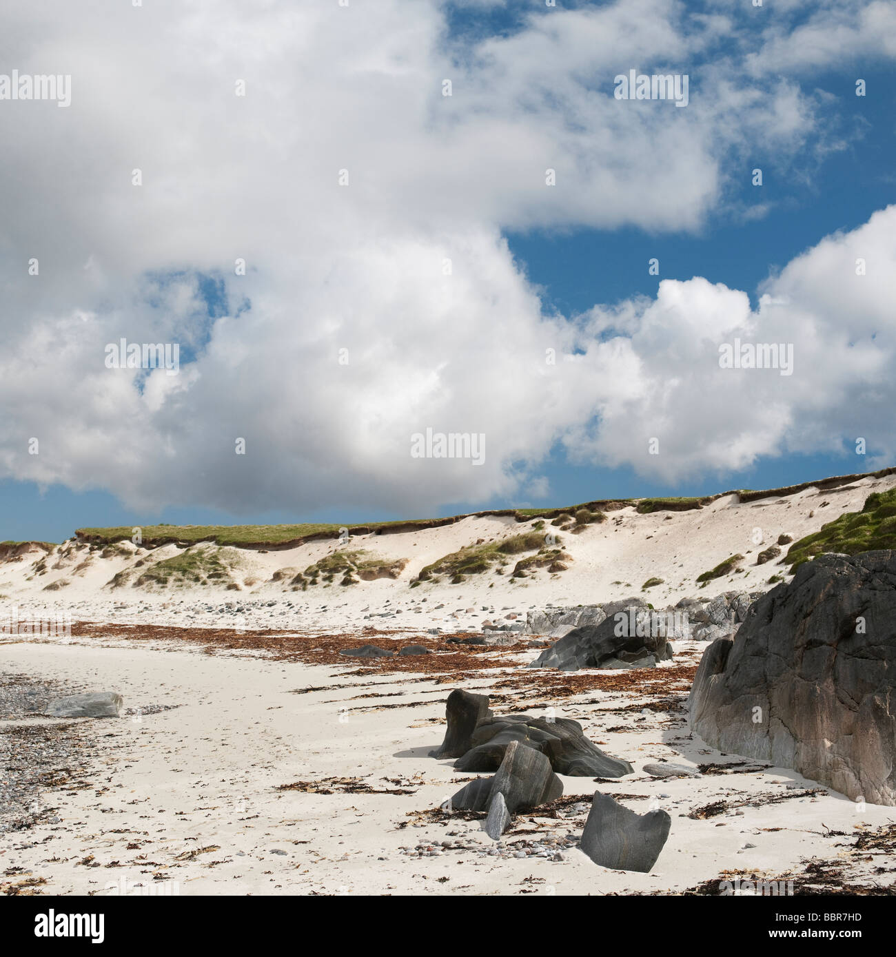 North Uist beach, Outer Hebrides, Scotland - Stock Image