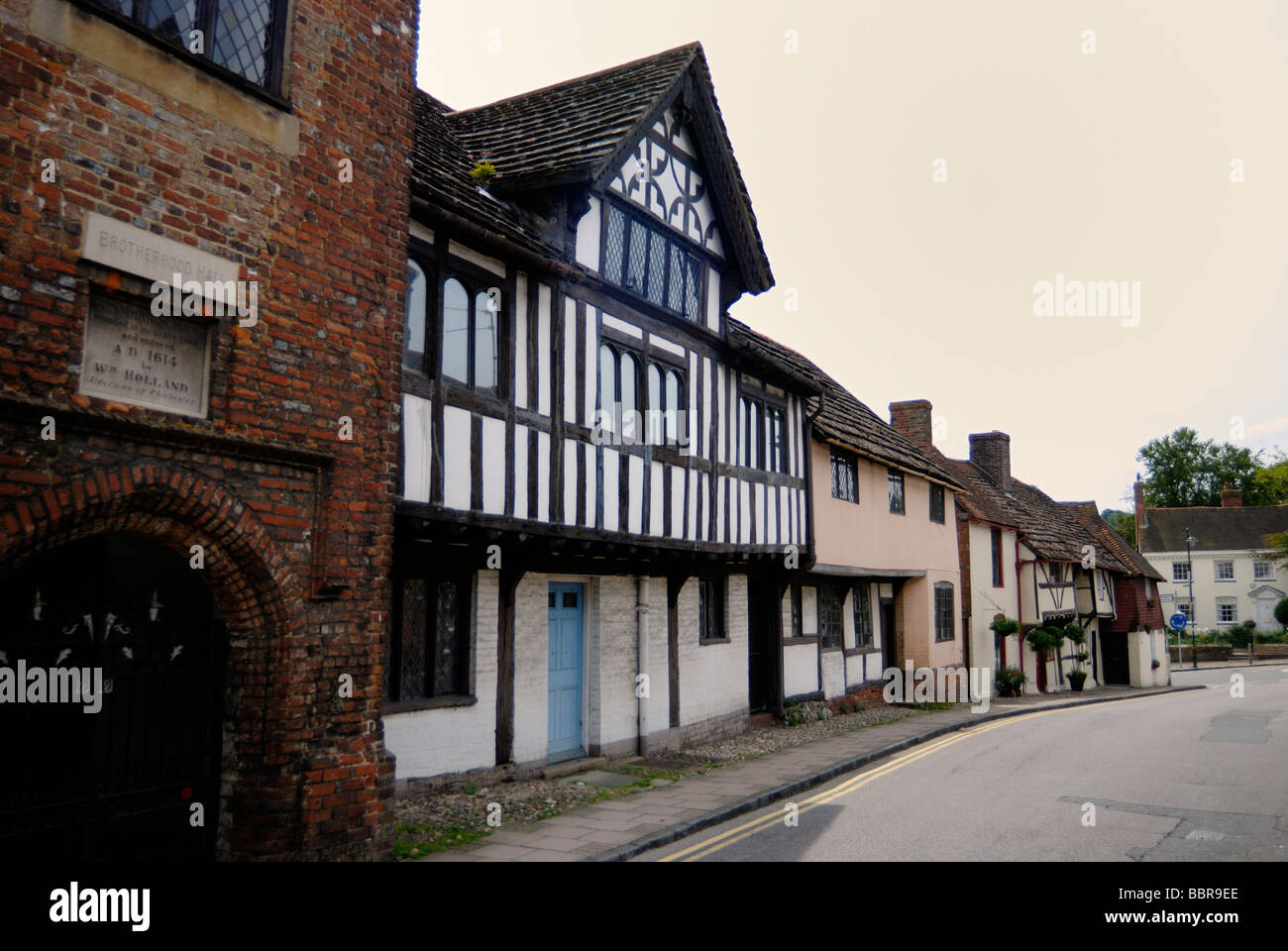 Ancient village high street - Stock Image