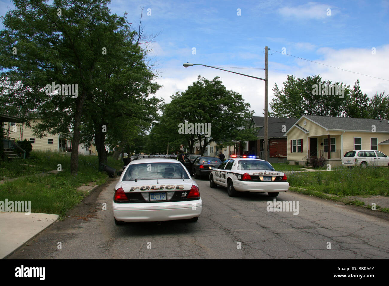 Grosse Pointe Park police in Detroit Michigan USA - Stock Image