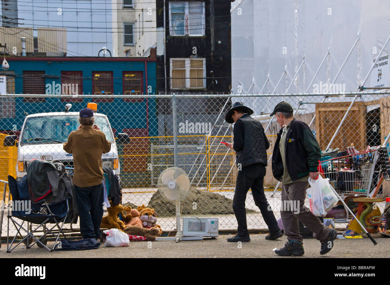 Poverty Hastings street East Vancouver - Stock Image