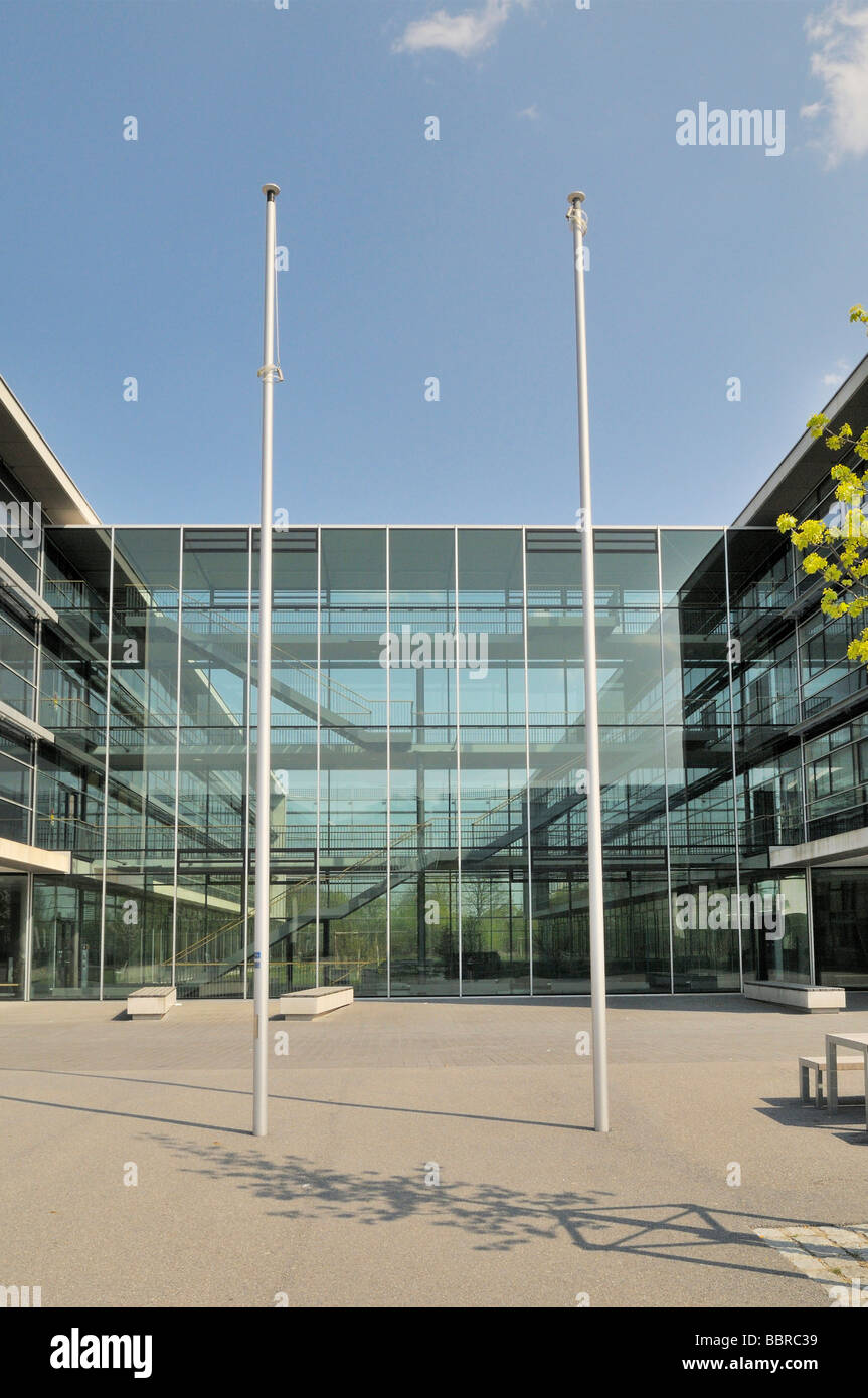 Modern school and office building, Munich, Bavaria, Germany, Europe - Stock Image