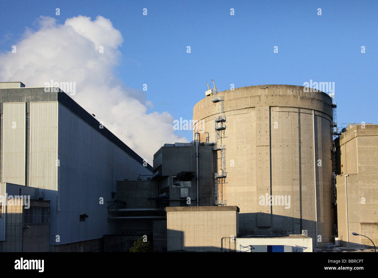 REP TYPE PRESSURIZED WATER REACTOR IN A SECTION OF THE EDF NUCLEAR POWER PLANT IN BUGEY, AIN (01), FRANCE - Stock Image