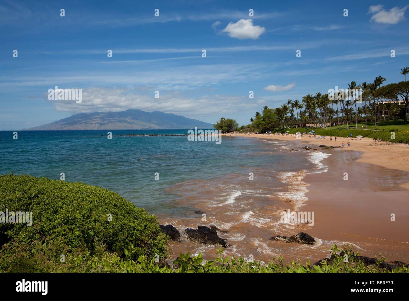 Ulua Beach Wailea Maui Hawaii Stock Photo