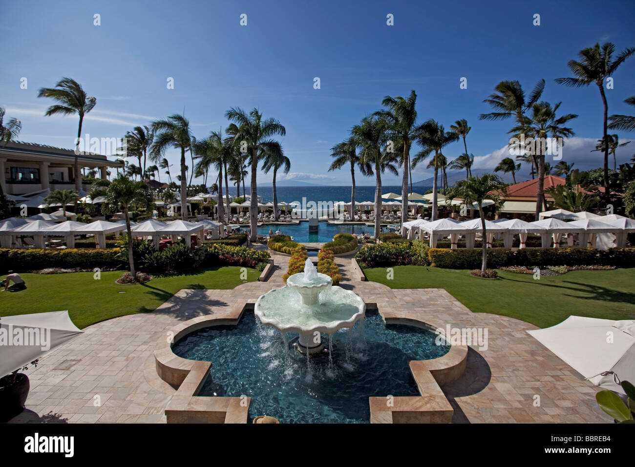 Four Seasons Resort Wailea Beach Maui Hawaii - Stock Image