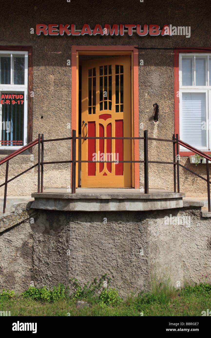 door of shop in  the city of Viljandi, Estonia, Baltic Nation, Eastern Europe.  Photo by Willy Matheisl - Stock Image