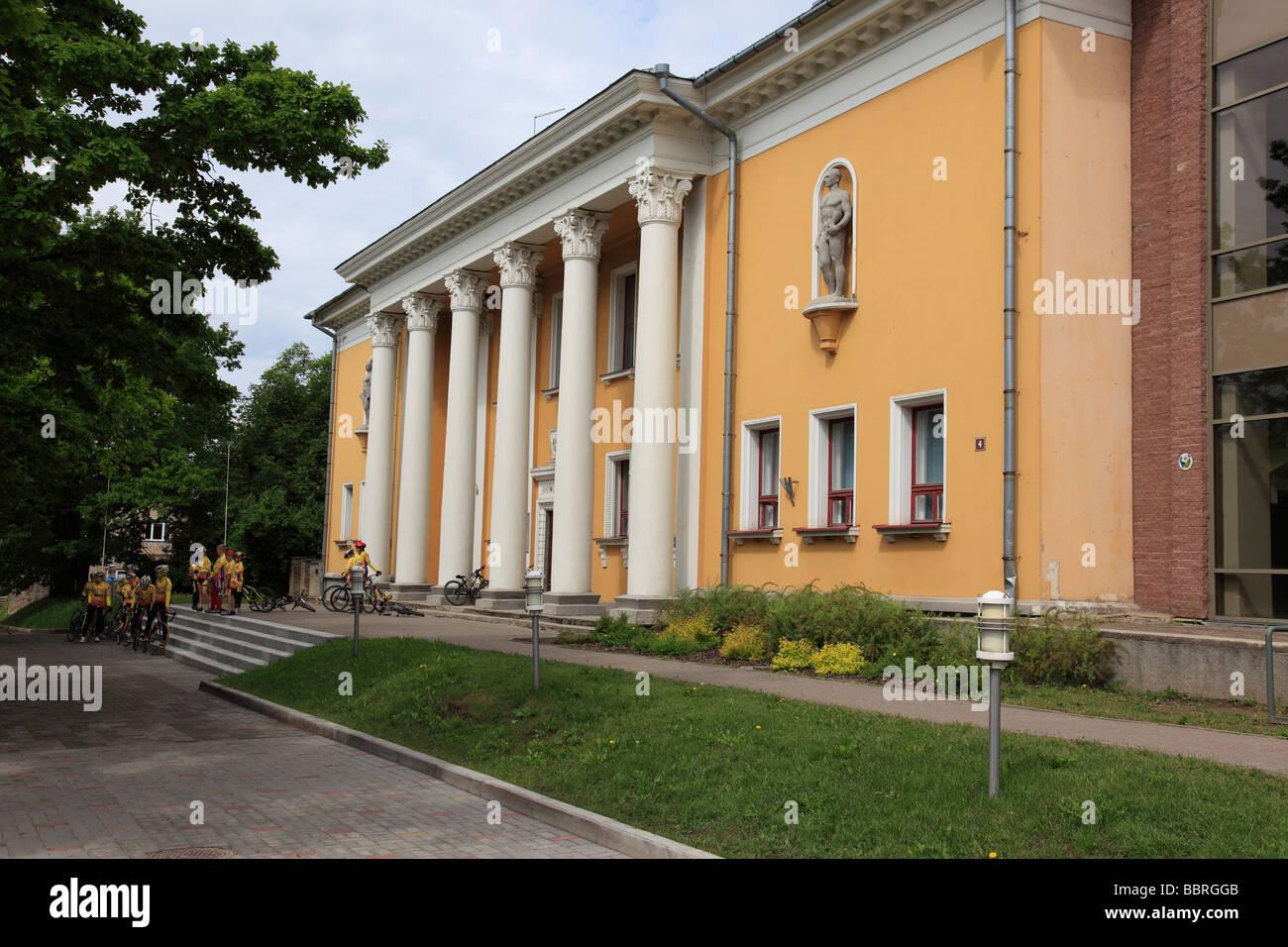 down town of Viljandi, Estonia, Baltic Nation, Eastern Europe.  Photo by Willy Matheisl - Stock Image