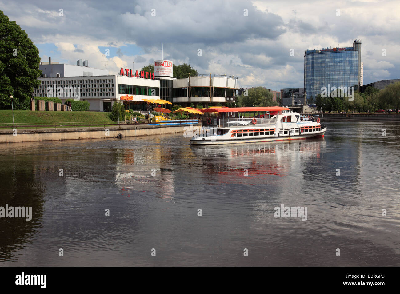 river Emajogi at the city of Tartu, Estonia, Baltic State, Eastern Europe. Photo by Willy Matheisl Stock Photo