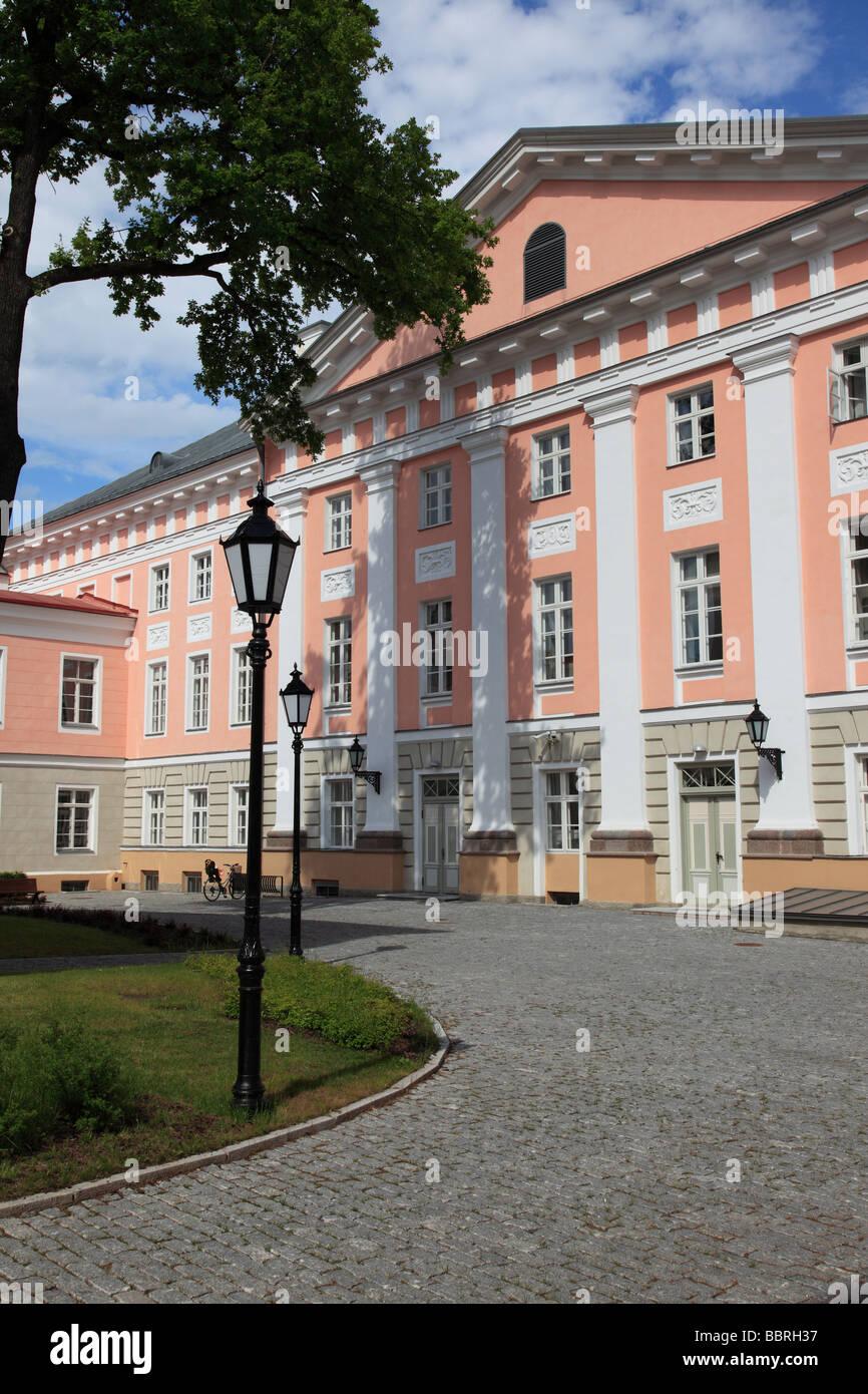 Univerity building of Tartu, Estonia, Baltic State, Eastern Europe. Photo by Willy Matheisl - Stock Image