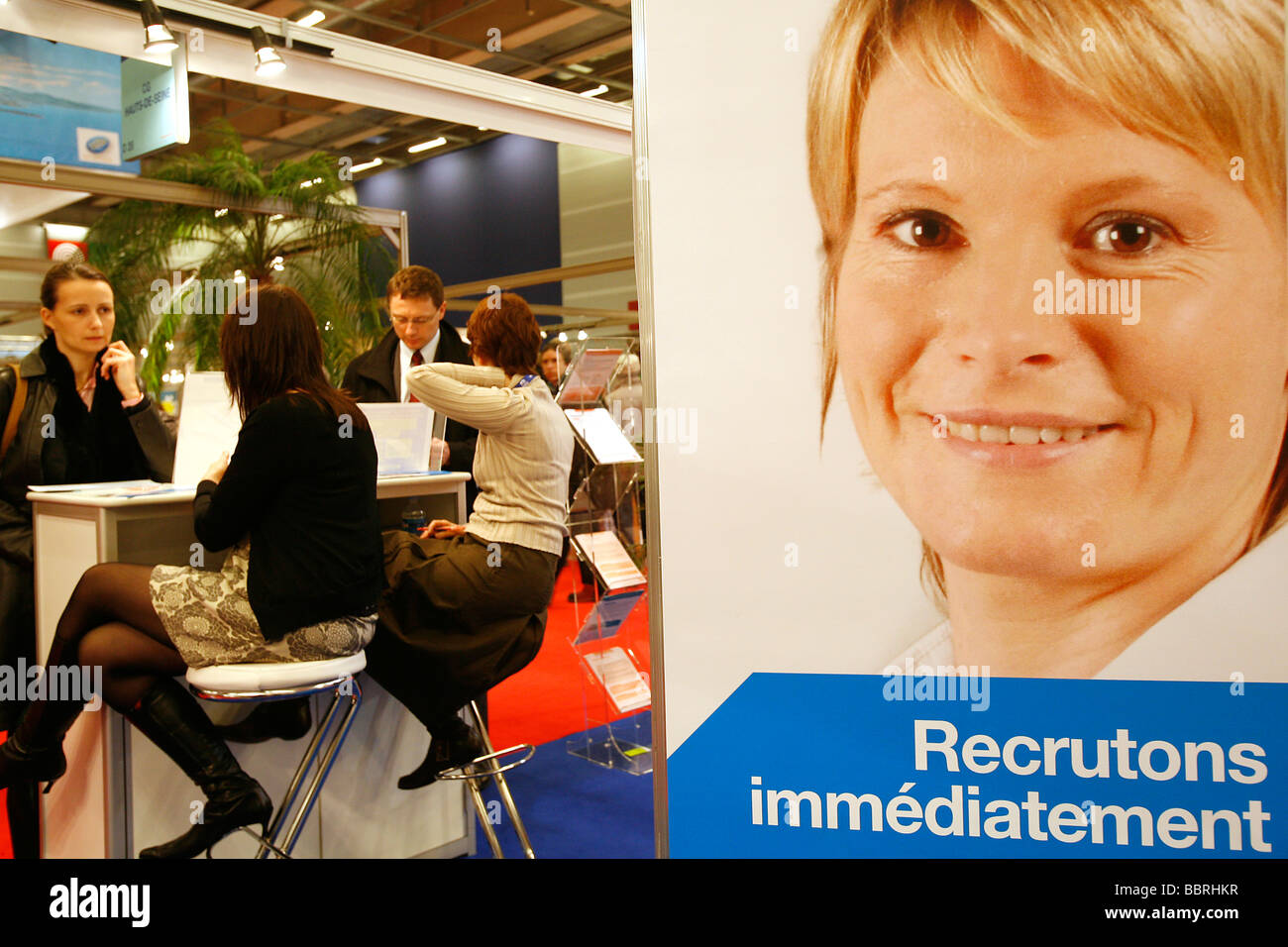 INTERVIEWS, APPLICATIONS, RESUMES, PUBLIC EMPLOYMENT FAIR, NATIONAL FAIR FOR RECRUITMENT INTO PROFESSIONS AND CAREERS - Stock Image