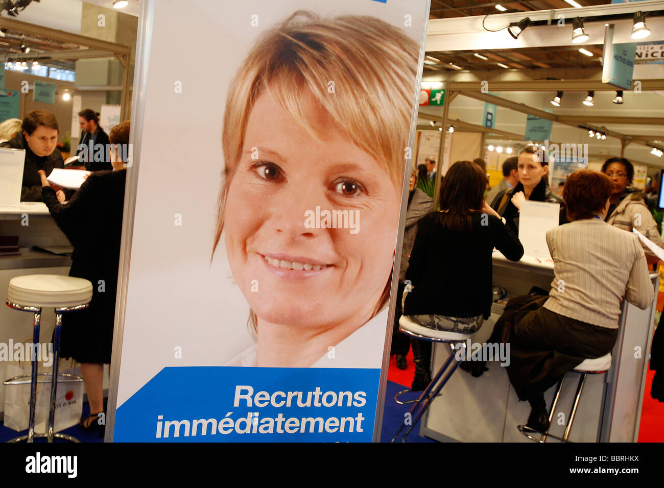 INTERVIEWS, APPLICATIONS, RESUMES, PUBLIC EMPLOYMENT FAIR, NATIONAL FAIR FOR RECRUITMENT INTO PROFESSIONS AND CAREERS Stock Photo