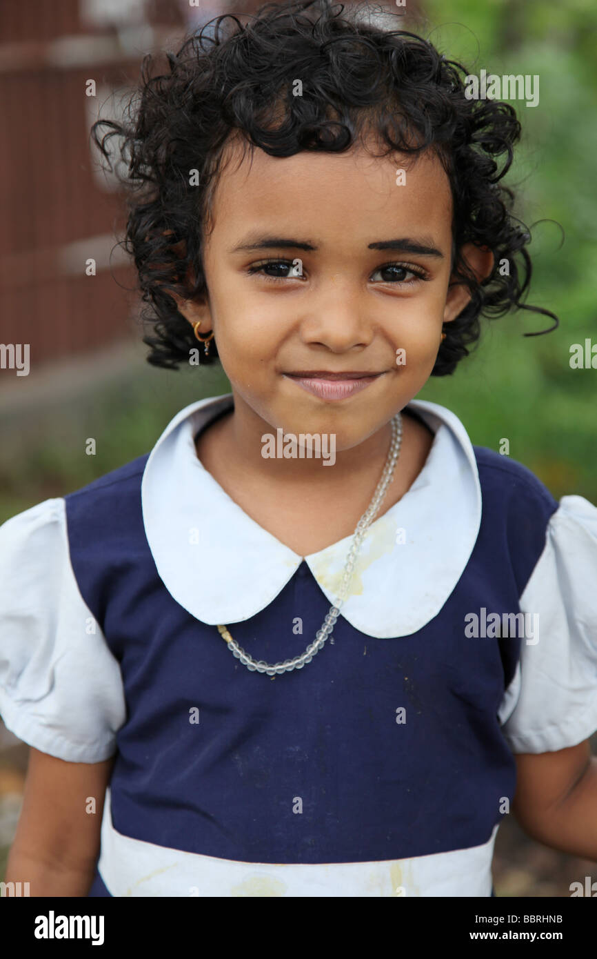 Indian schoolgirl - Stock Image