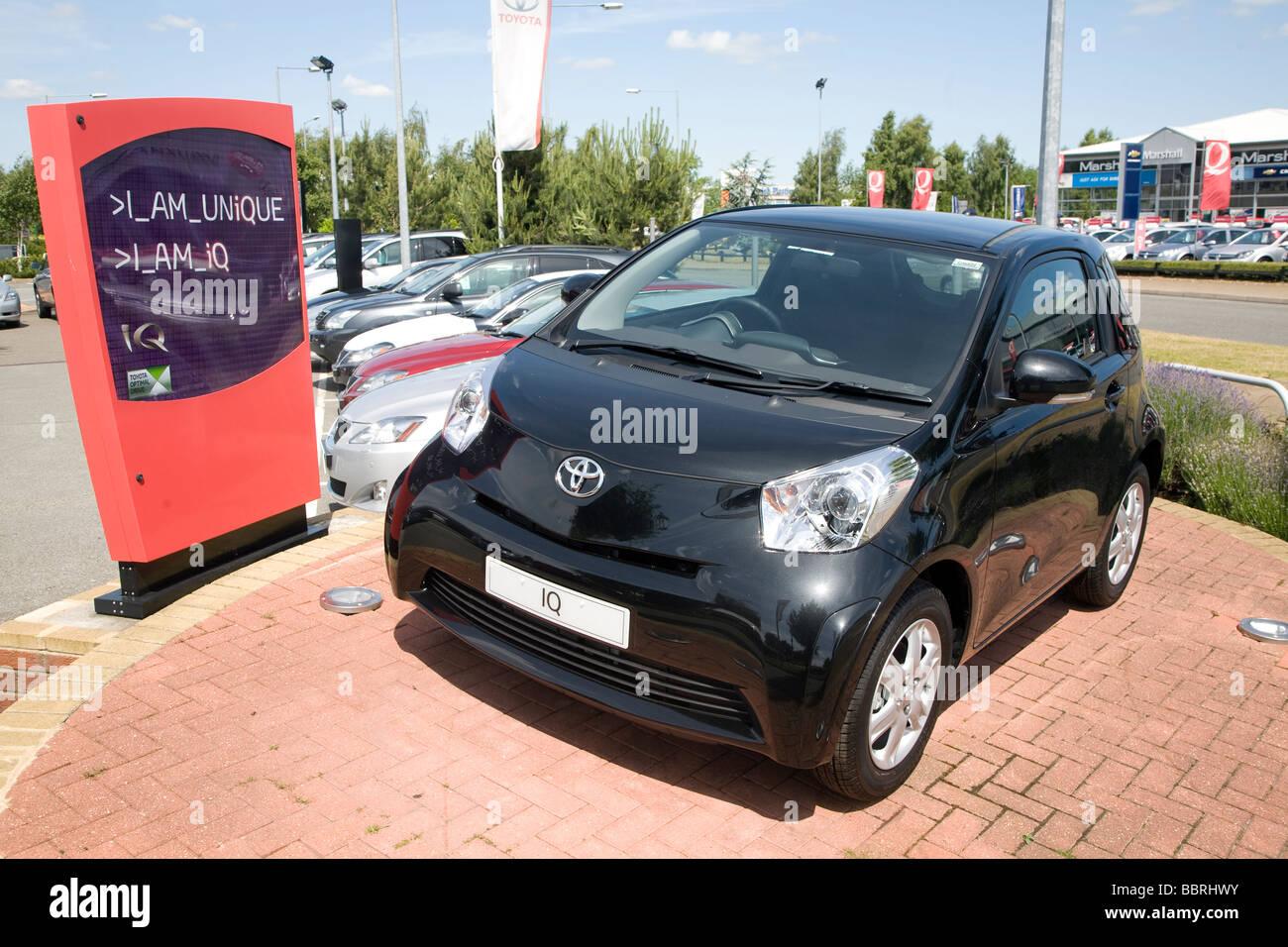IQ car Car dealerships Ransomes Europark Ipswich Suffolk England - Stock Image