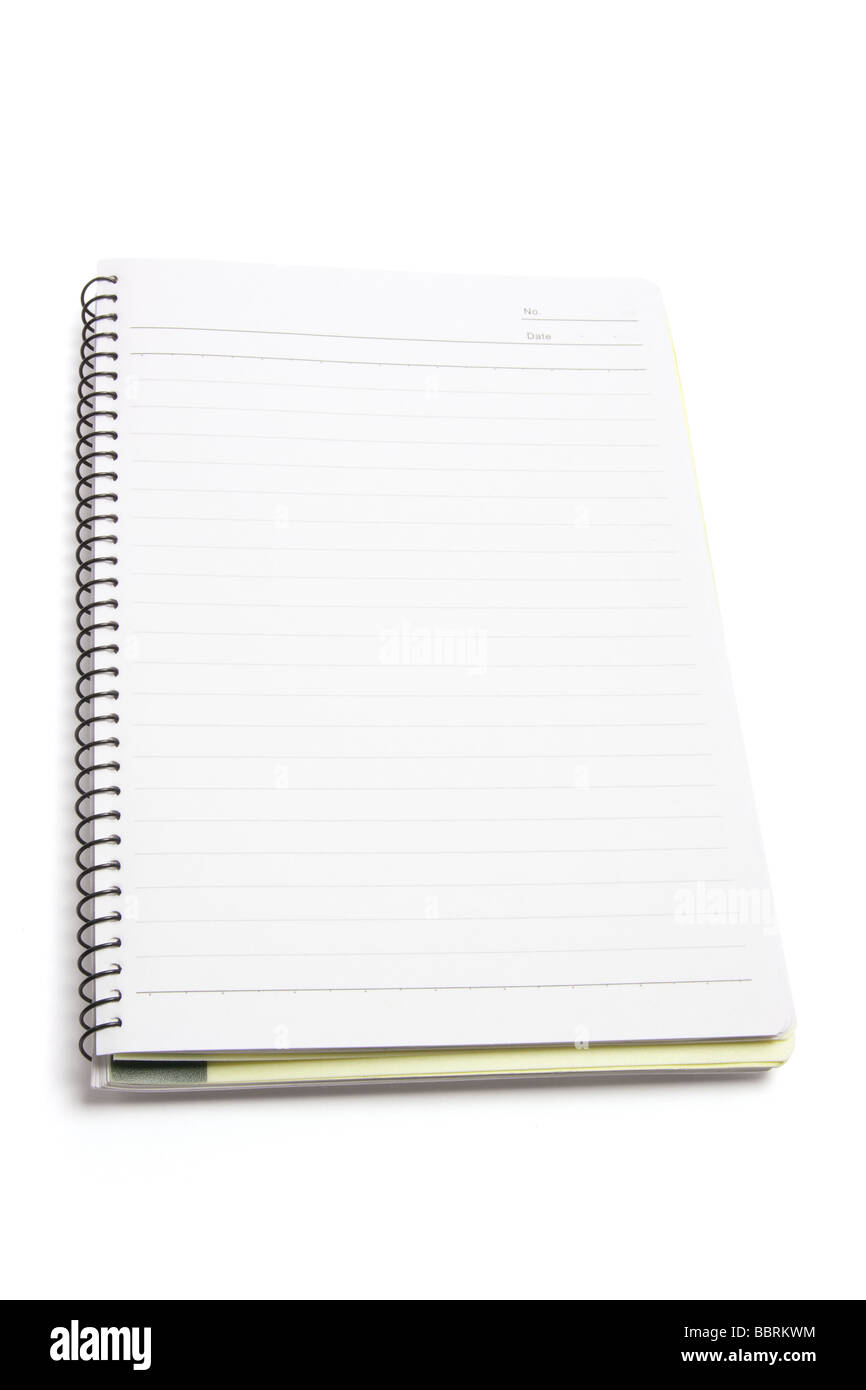 Spiral Note Book - Stock Image