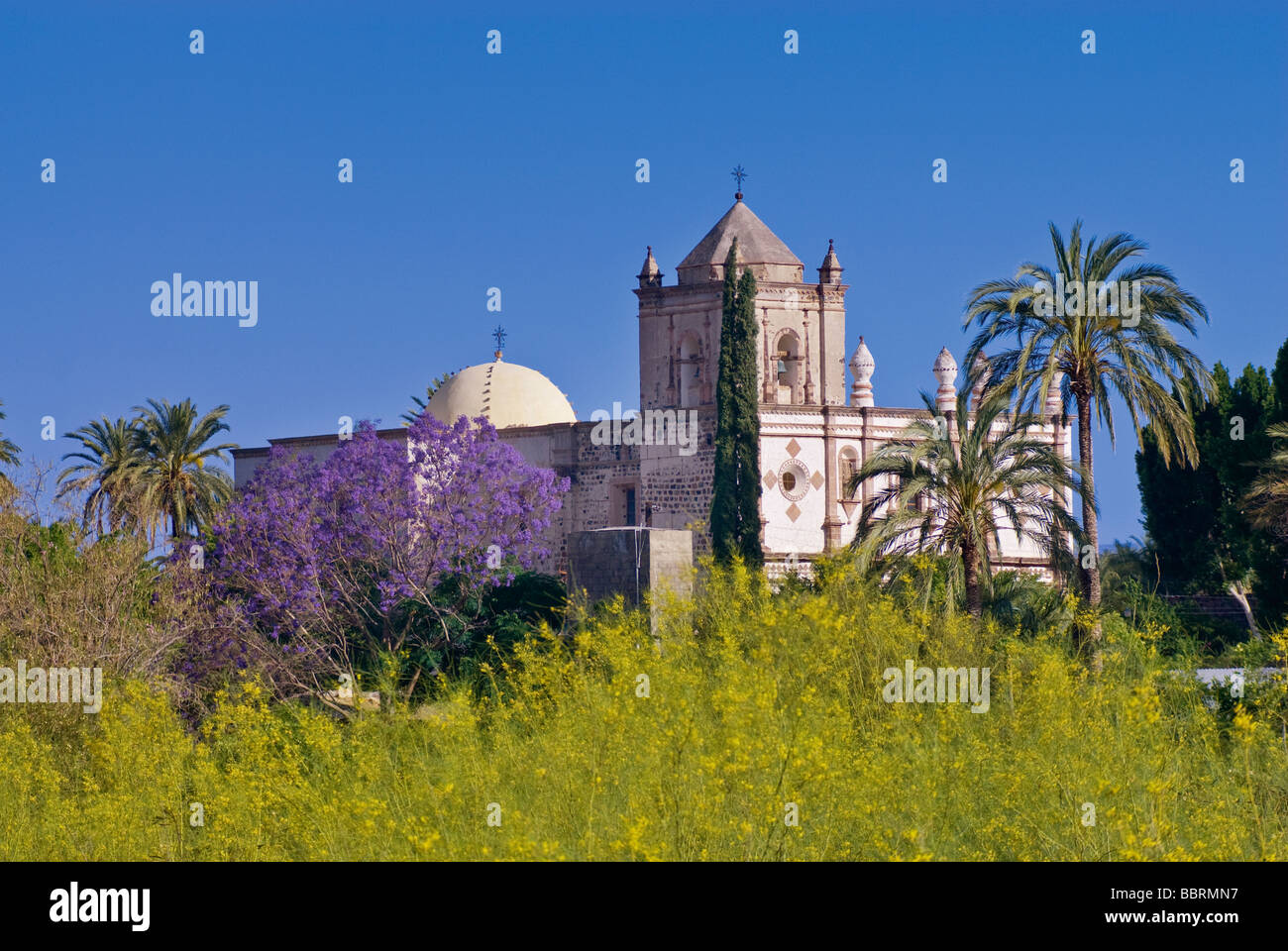 Mision San Ignacio in Baja California Sur Mexico - Stock Image