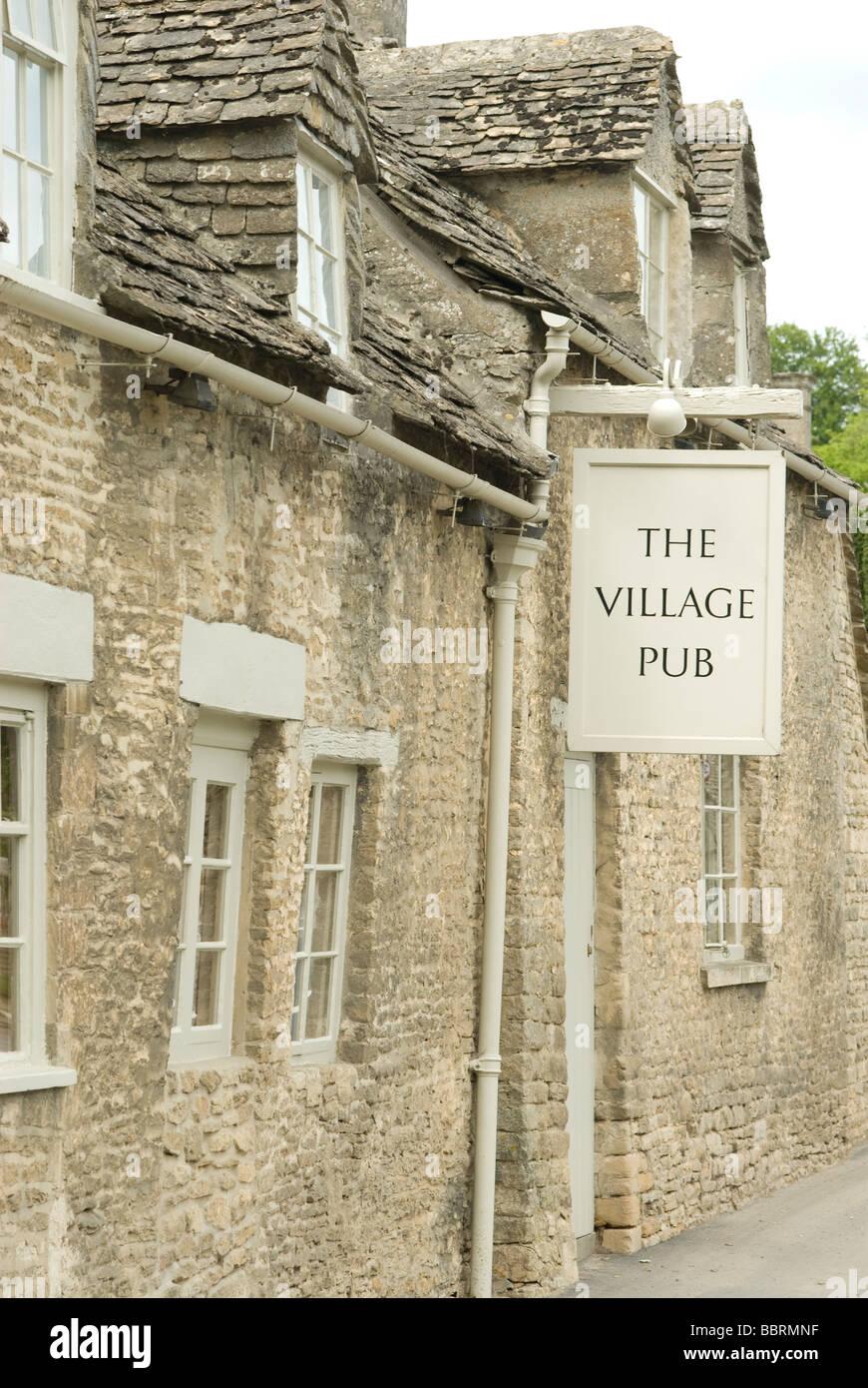The Village Pub, Barnsley, Gloucestershire - Stock Image