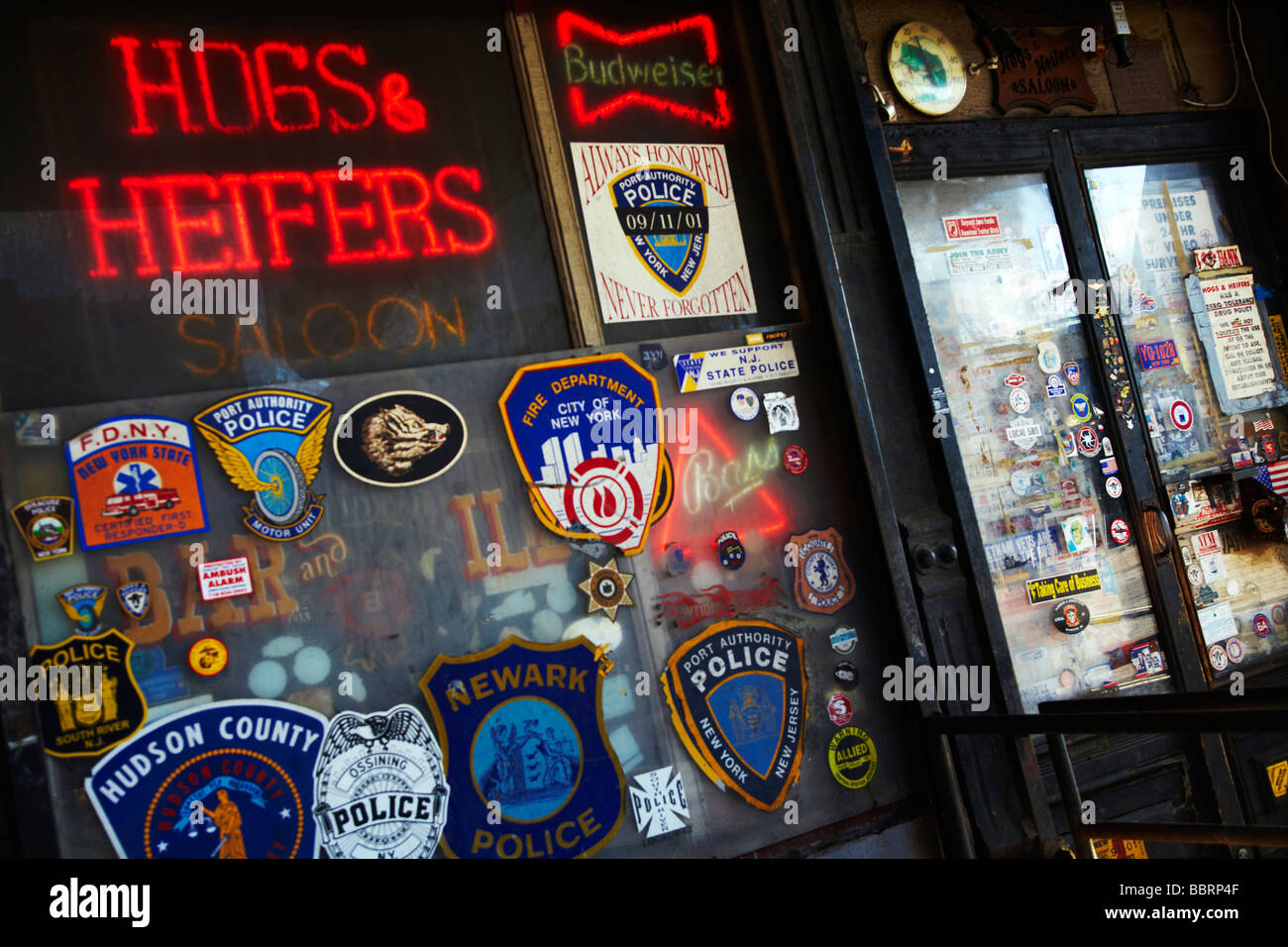 hogs a heifers saloon, meatpacking district, NY - Stock Image