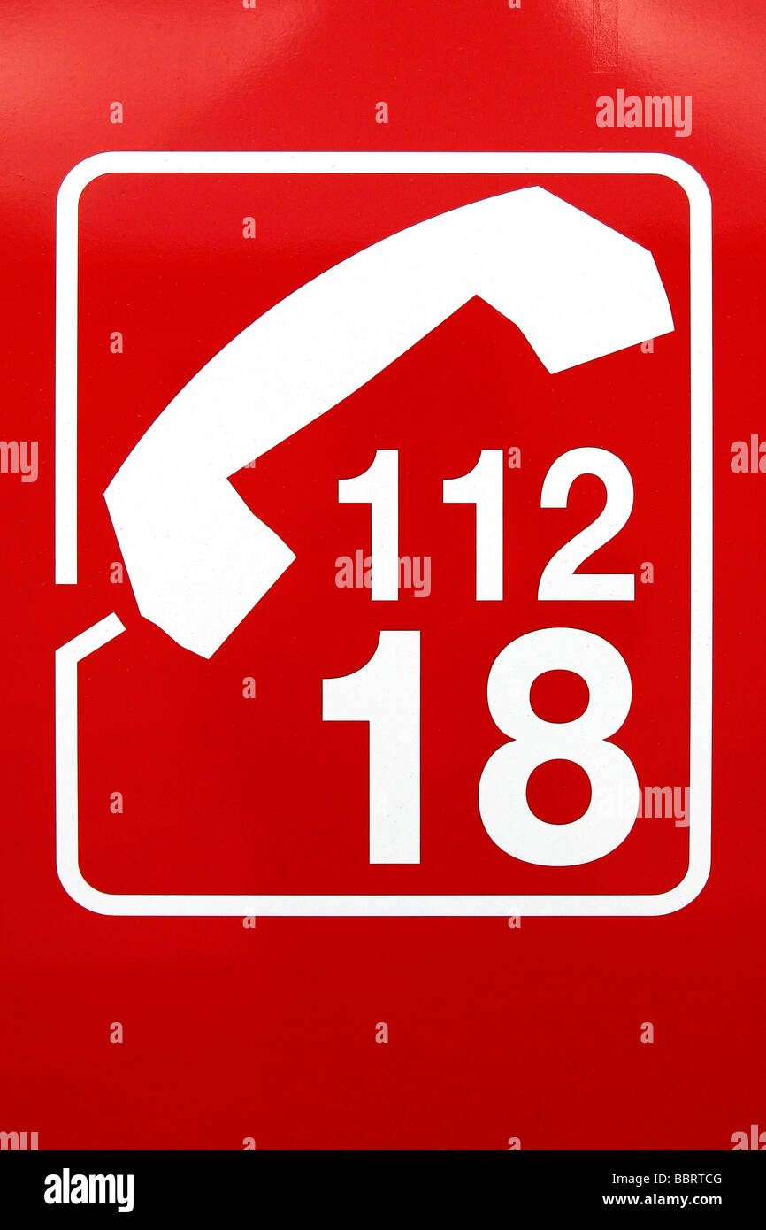 FRENCH AND EUROPEAN EMERGENCY PHONE NUMBERS (18 FOR FRANCE AND 112