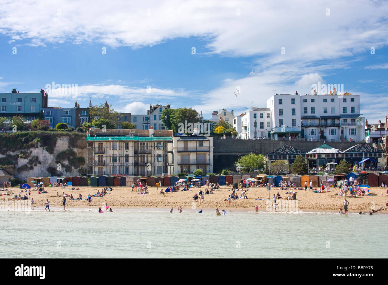 Broadstairs Beach, Viking Bay, Kent, England - Stock Image