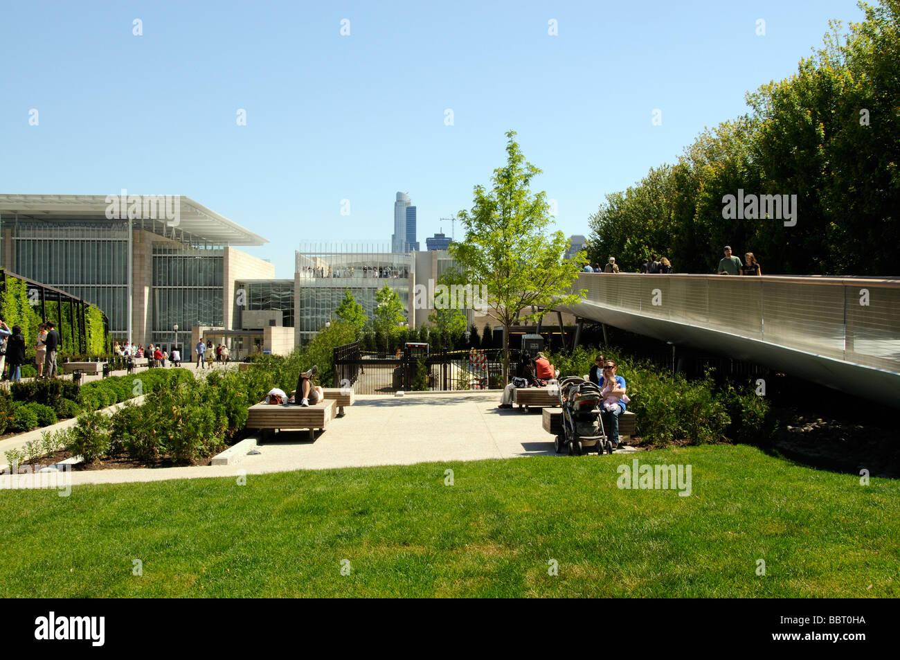 The Nichols Bridgeway access to The Art Institute of Chicago Illinois USA - Stock Image