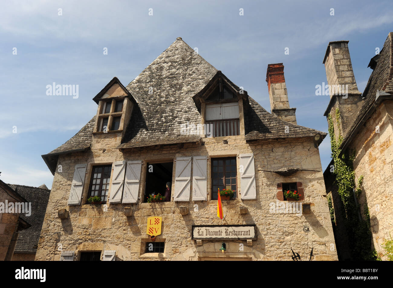 Turenne Dordogne France - Stock Image