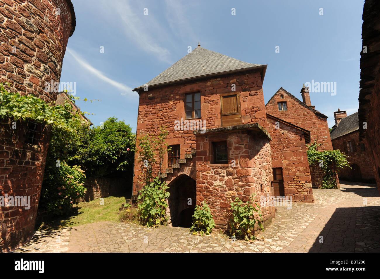 Collonges La Rouge Dordogne France Stock Photo