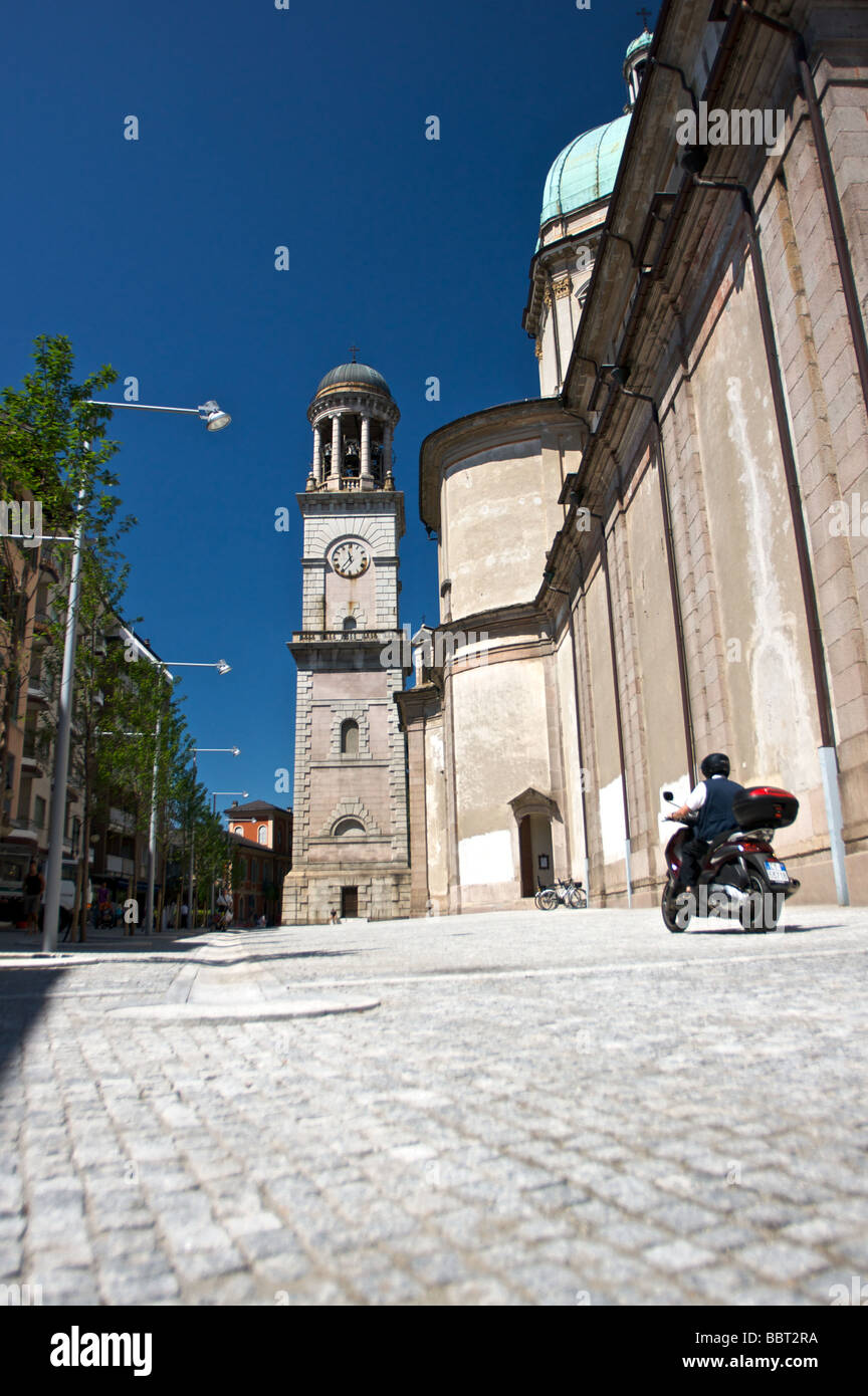 Recently rennovated San Vittore square in Verbania - Stock Image