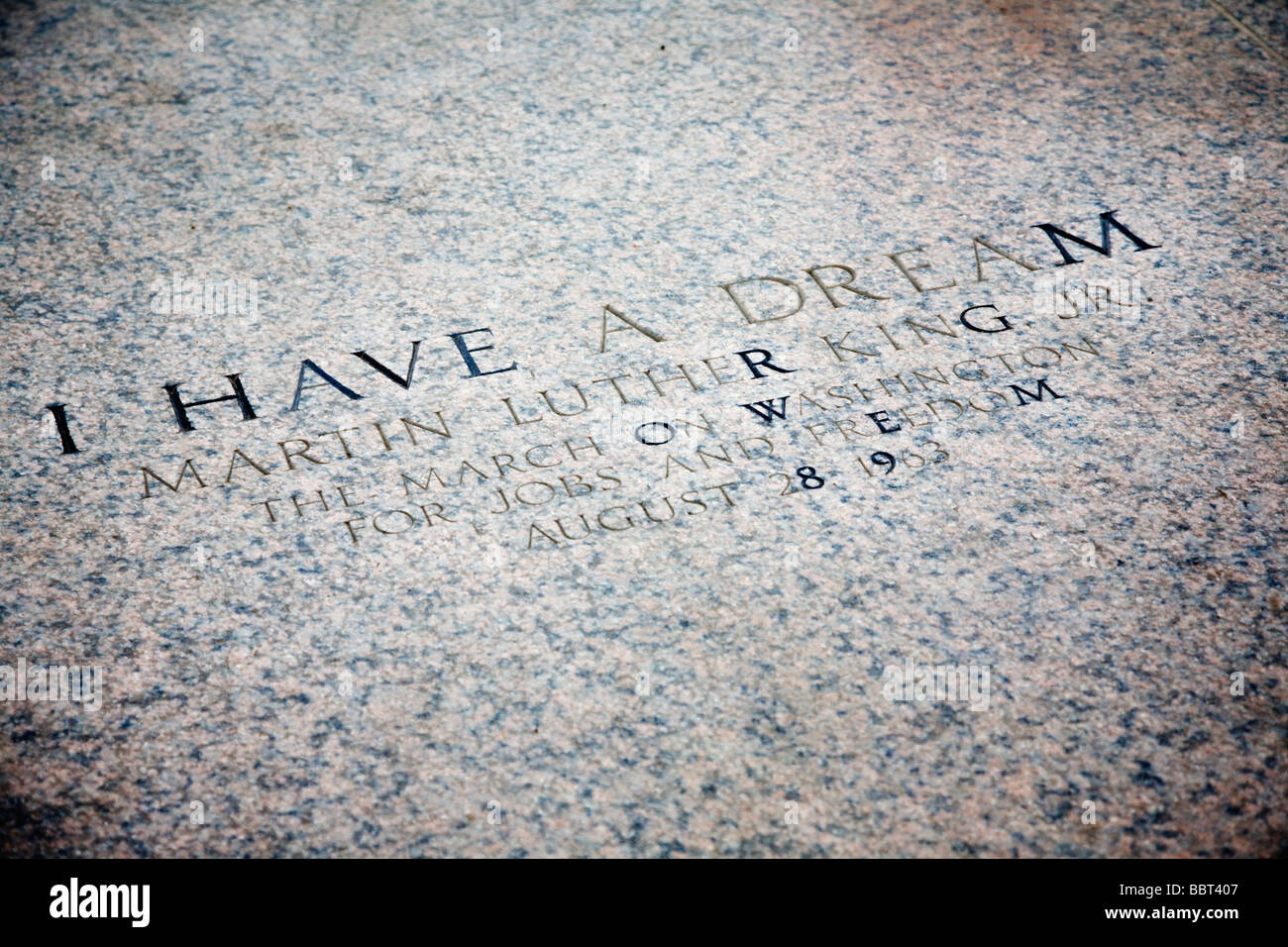 Martin Luther King Jr S Quote I Have A Dream Engraving At The
