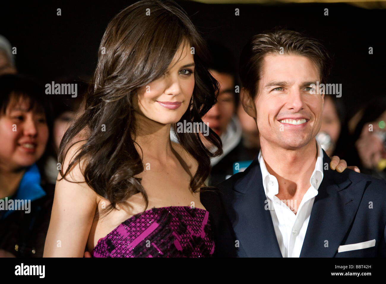 Hollywood star actor Tom Cruise, at red carpet premiere of movie. - Stock Image