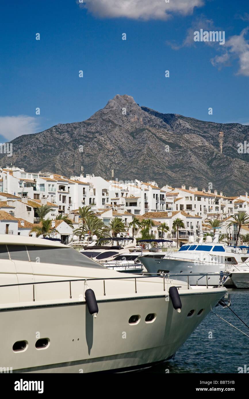 Jose Banus Marina in Marbella Malaga Sun Coast Andalusia Spain Stock Photo