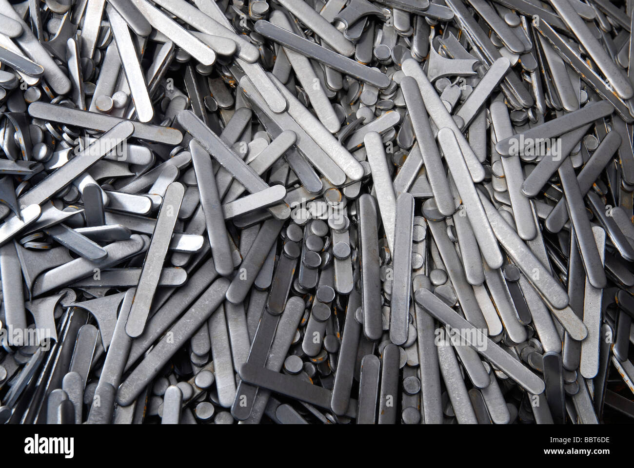 Scrap steel from a pressings factory in the Midlands UK - Stock Image