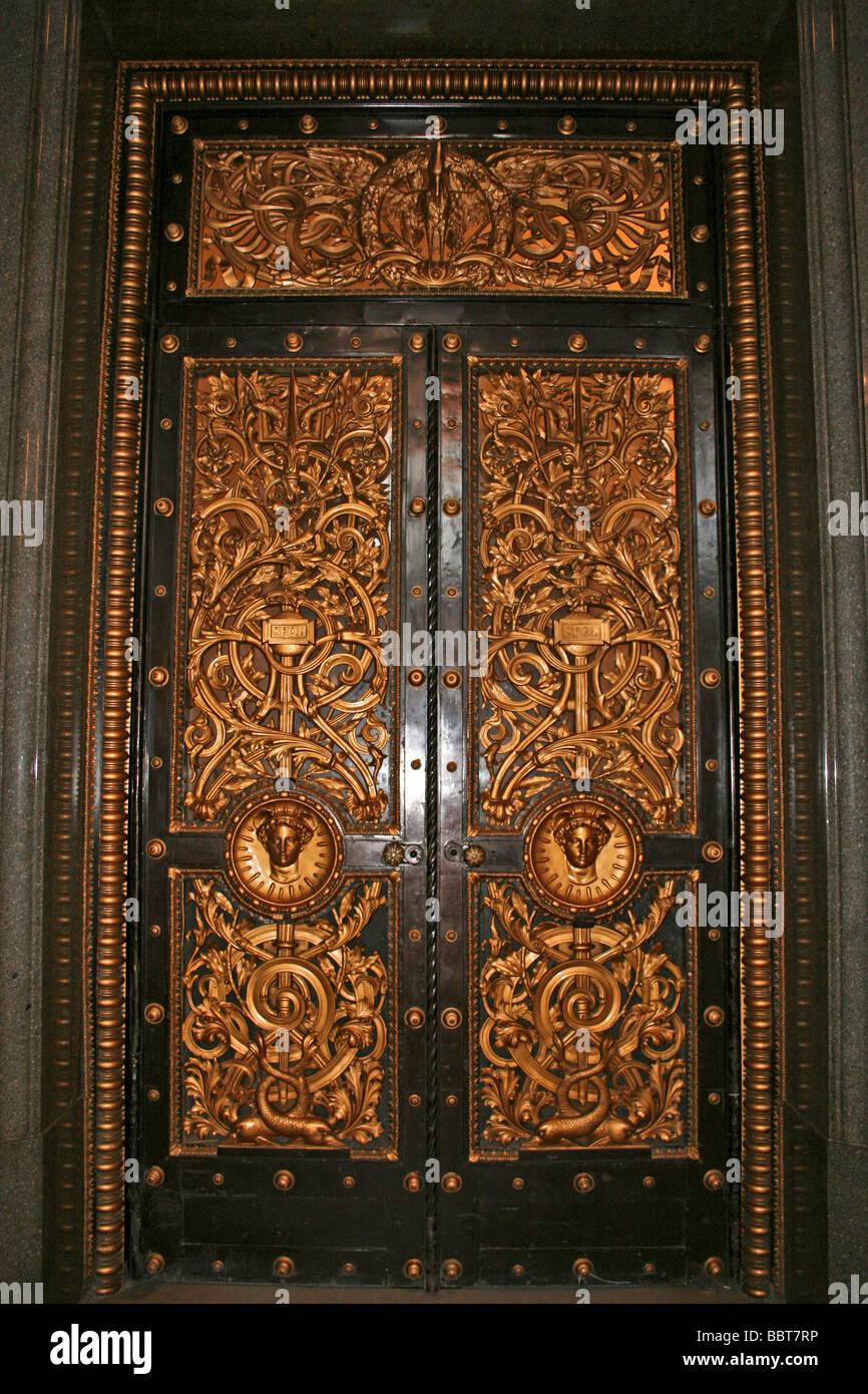 Ornate Bronze Door In The Great Hall St Georgeu0027s Hall Liverpool Merseyside UK & Ornate Bronze Door In The Great Hall St Georgeu0027s Hall Liverpool ...