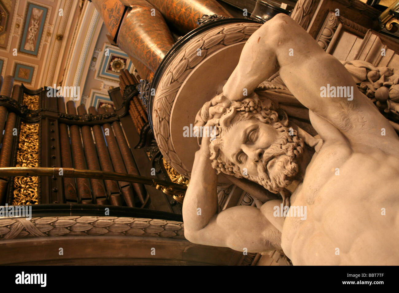 Marble Sculpture Of Hercules, St George's Hall, Liverpool, Merseyside, UK Stock Photo