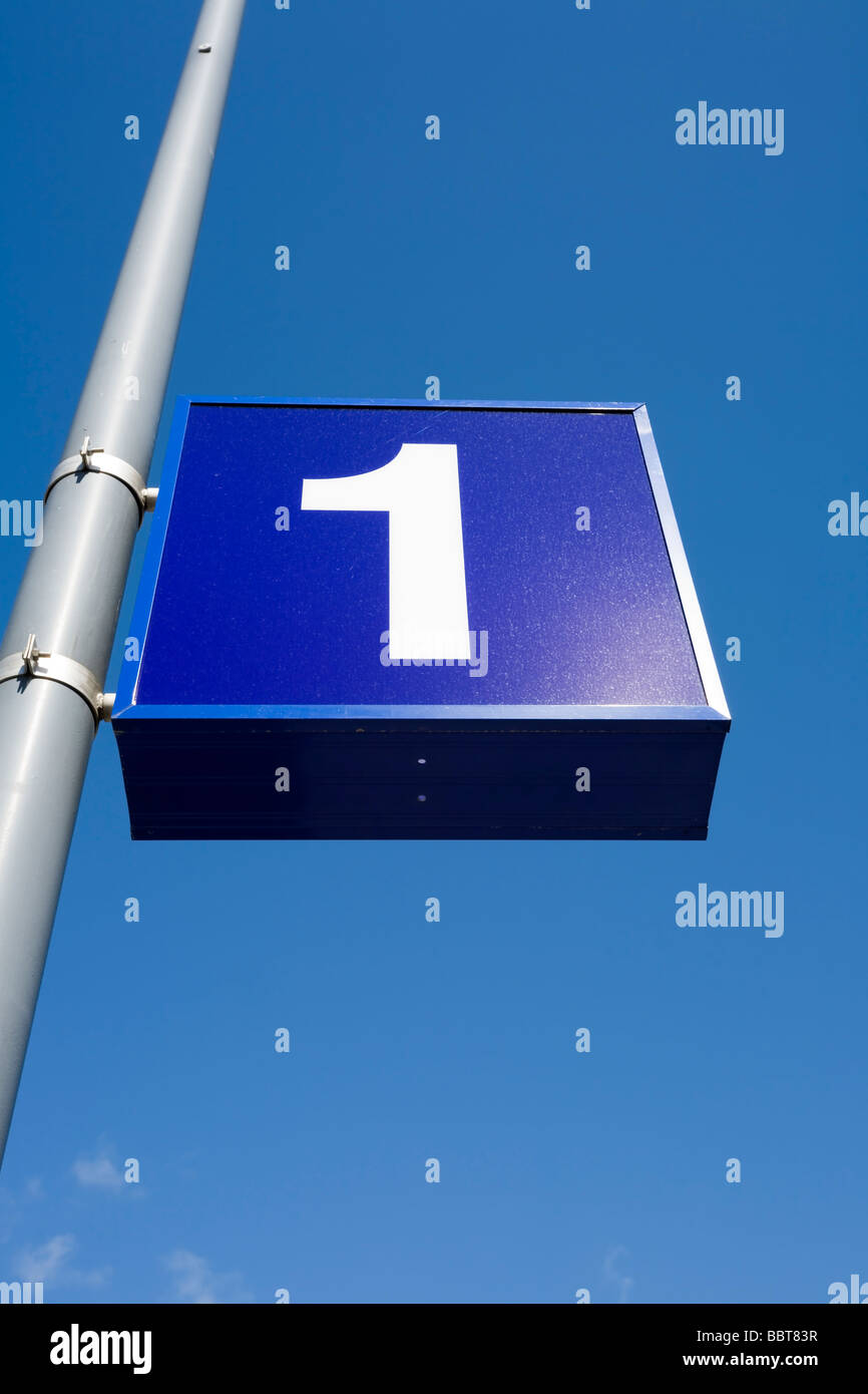 number one - Stock Image
