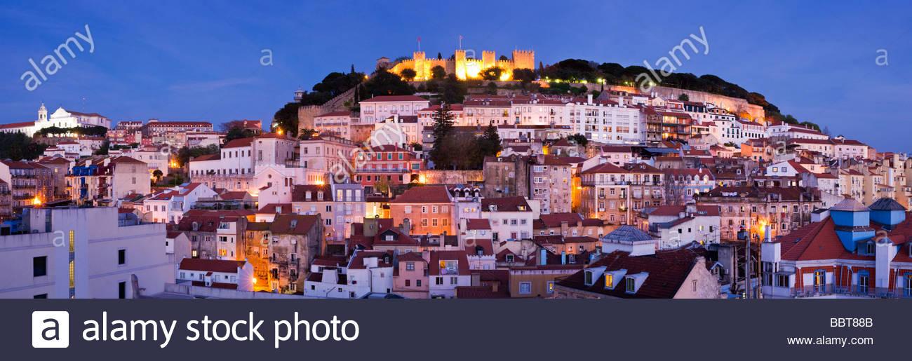 Castle of São Jorge, Alfama, Lisbon, Portugal. - Stock Image